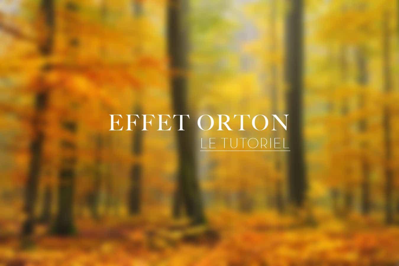 Effet Orton - le tutoriel
