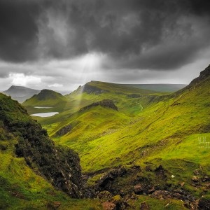 Photo du Quiraing en Écosse - Île de Skye