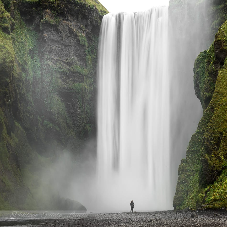 Alone At Skógafoss