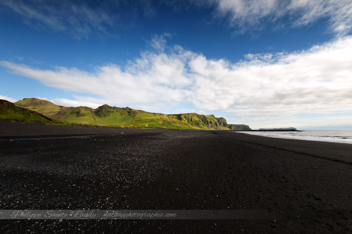 Walking On The Vik Black Beach