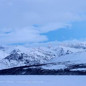 Montagnes d'Islande en hiver