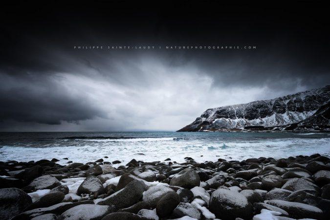 Plage de Unstad sur les îles Lofoten