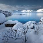 Fjord en Norvège sur les îles Lofoten