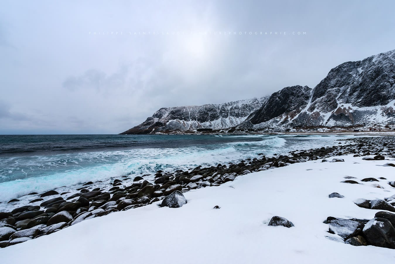 Unstad Beach In The Lofoten Islands