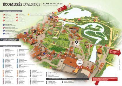 Plan écomusée de Ungersheim