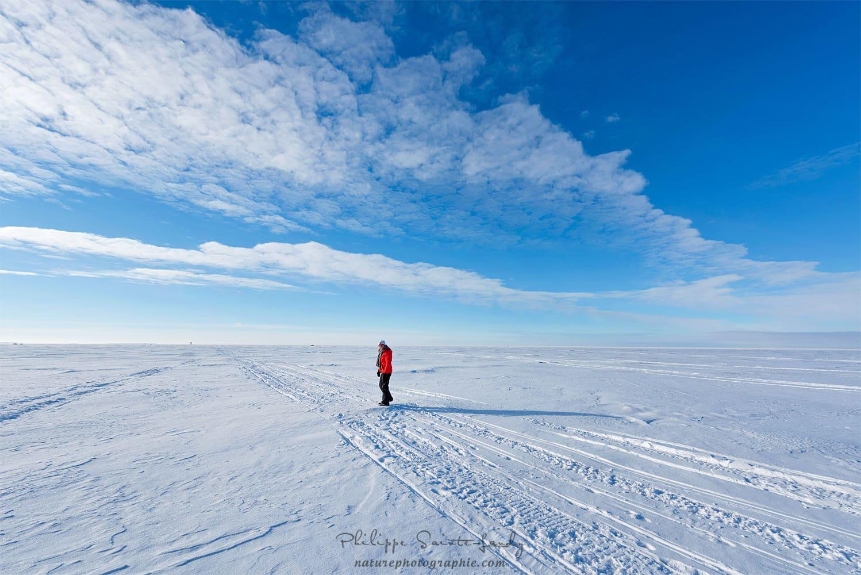 Christine sur le lac gelé