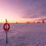 Coucher de soleil à Oulu en Finlande