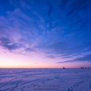 Ciel de Finlande en hiver