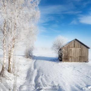 Paysage de neige en Finlande