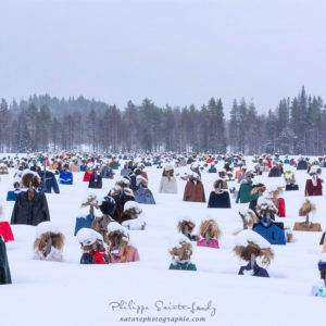 Le Peuple Silencieux... Une oeuvre de l'artiste finlandais Reijo Veli Kela