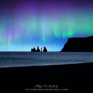 les Reynisdrangar et la plage de vik en Islande