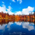 Lac de la Maix dans les Vosges en automne