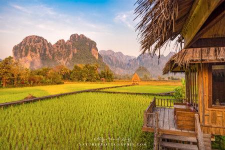 Début de journée à Vang Vieng