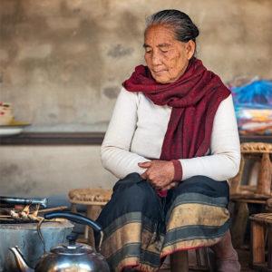 Portrait de femme au Laos