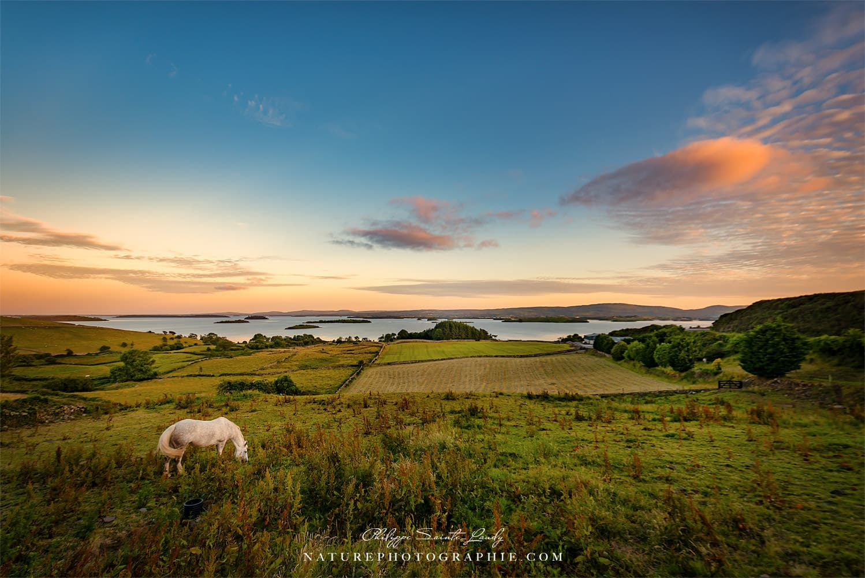 Coucher de soleil au coeur du Connemara