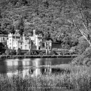 Kylemore Castle in Black and White