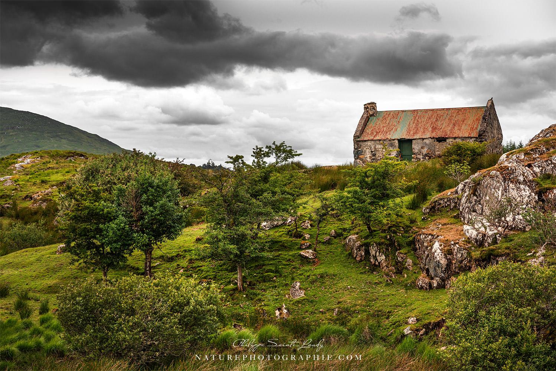 Vieille bergerie dans la nature Irlandaise