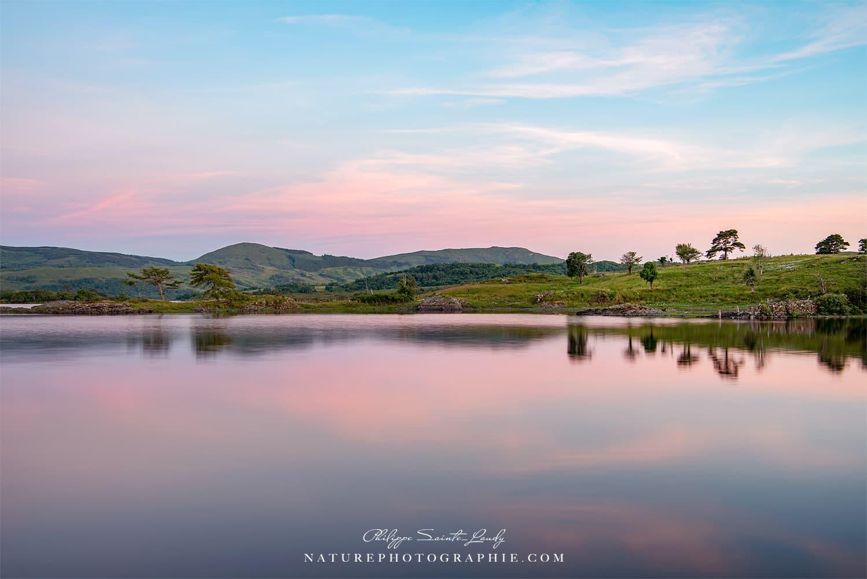 Ambiance rosée sur le Connemara