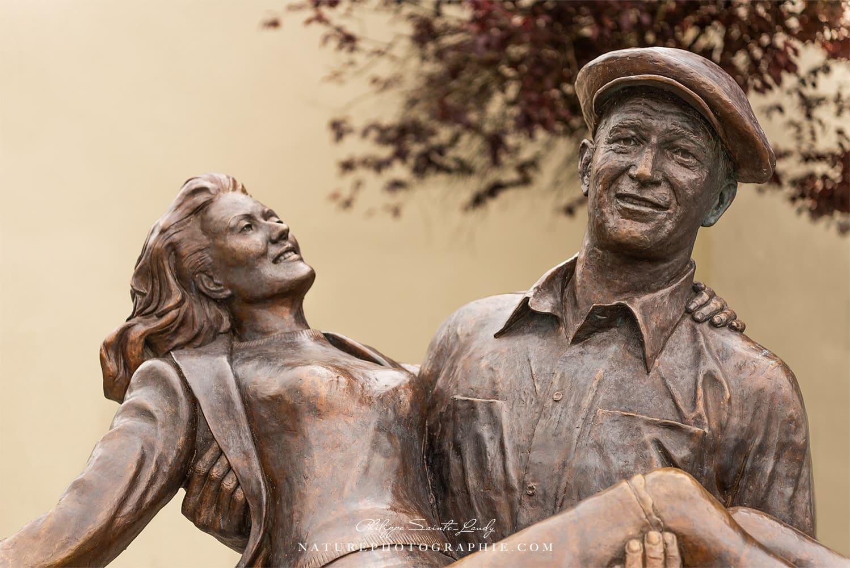 l'Homme tranquille, la statue dans le village de Cong en Irlande