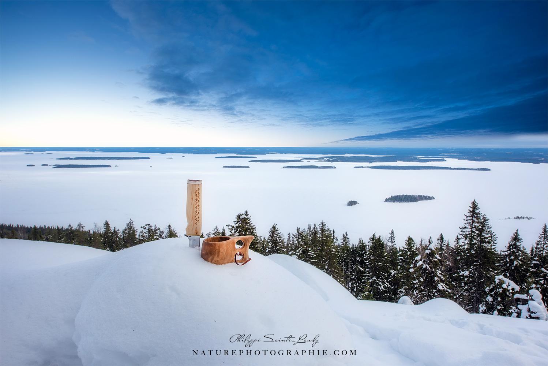 Couteau, kuksa…Le nécessaire pour être dans la nature Finlandaise
