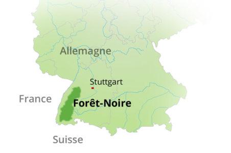 Localisation de la Forêt-Noire