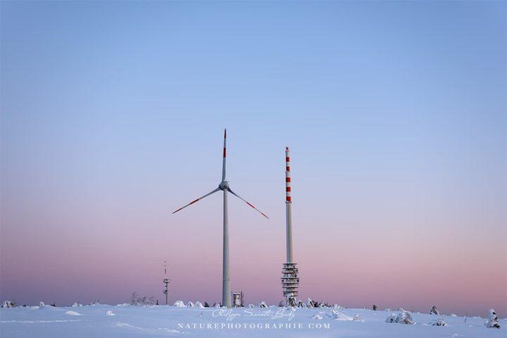Wind Turbine at Dawn
