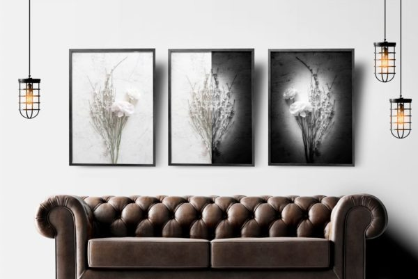 Triptyque Florale