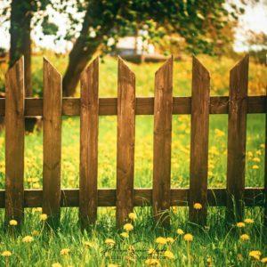 Barrière devant un champs en Estonie