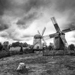 Photos de moulins à vent en noir et blanc - Angla