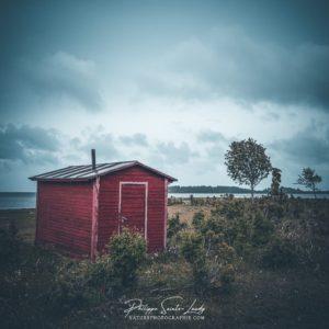 Juste une petite maison de pêcheur sur la côte Estonienne