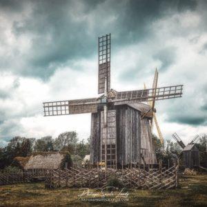 Effet Orton sur un moulin à vent en Estonie