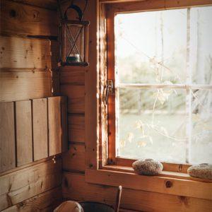 Intérieur du sauna en Estonie