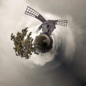 Tiny Plant d'un moulin à vent en Estonie