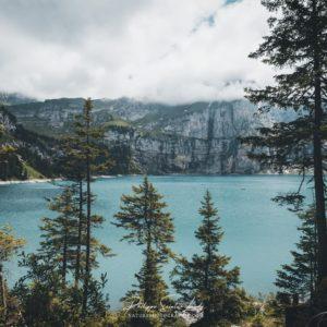 Journée couverte sur l'Oeschinen en Suisse