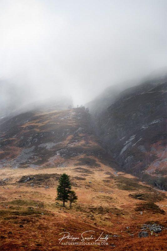 Glencoe dans le brouillard