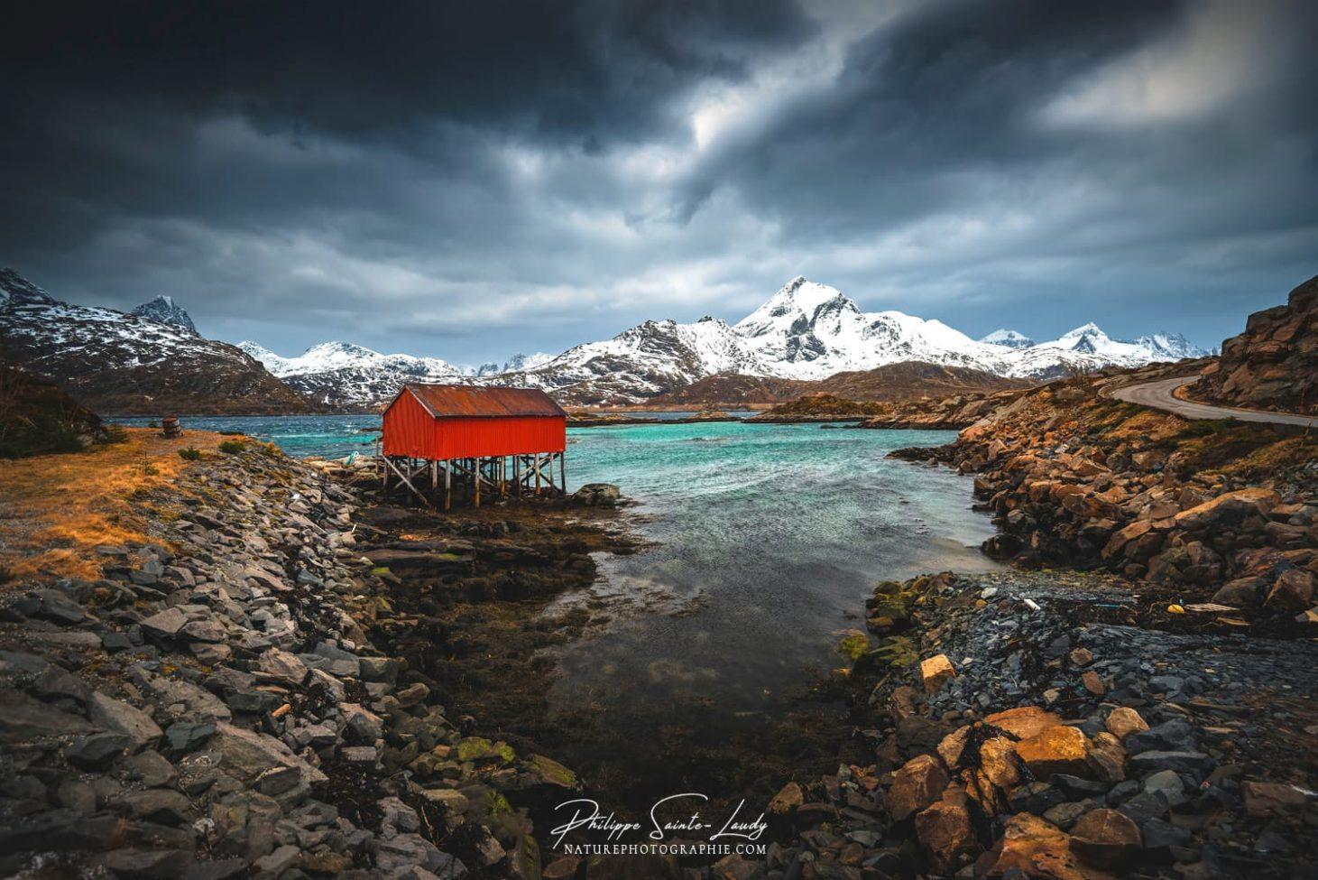 Rorbu sur les îles Lofoten en Norvège