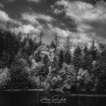 Lac de la Maix en noir et blanc