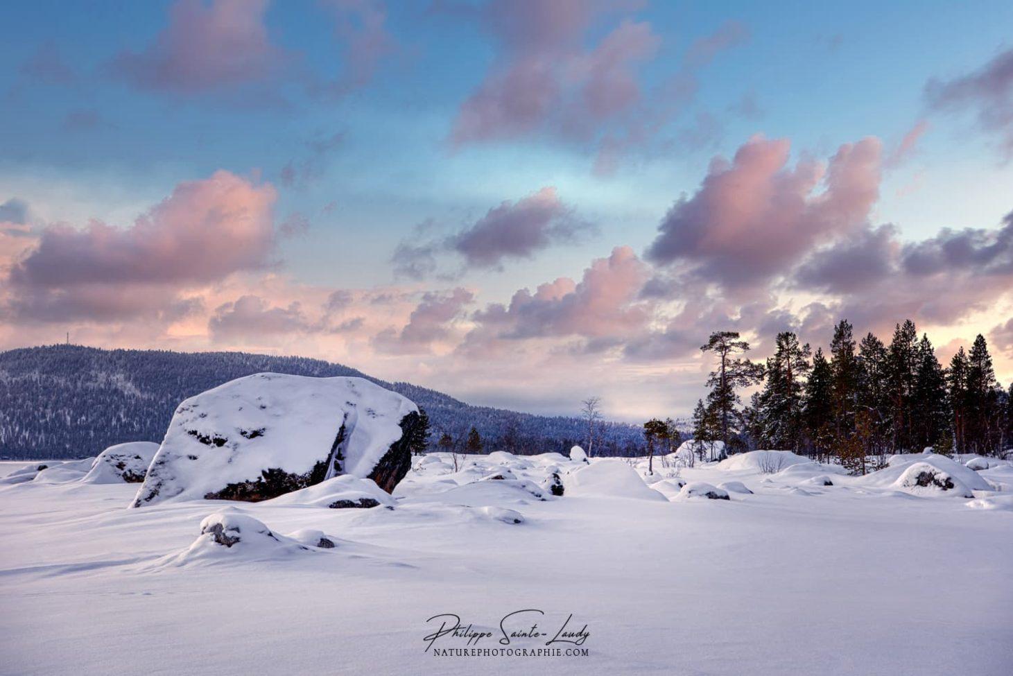 Lumière du matin en Finlande