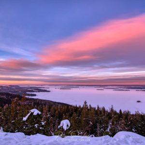 Ciel du soir en Finlande
