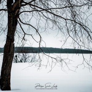 Paysage de Finlande sous la neige