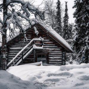 Chalet Finlandais sous la neige