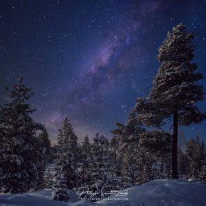 Ciel étoilé en Laponie