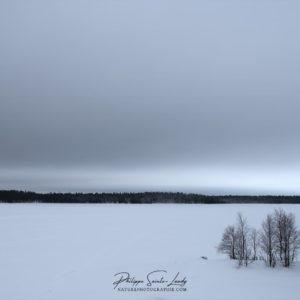 Lac gelé en Finlande