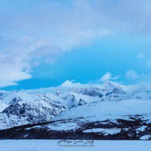 Ciel bleu acier en Islande