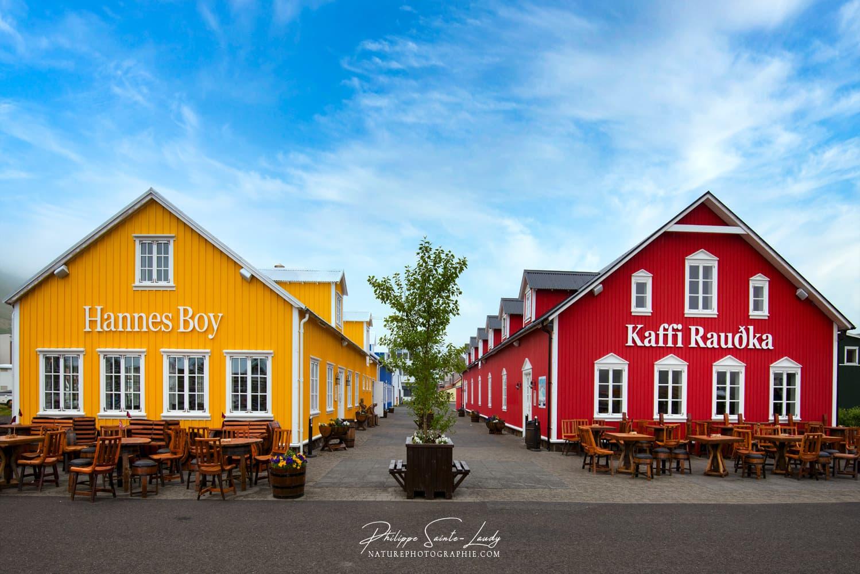 Les deux cafés de Siglufjordur en Islande
