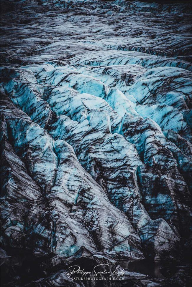 Gros plan de glacier