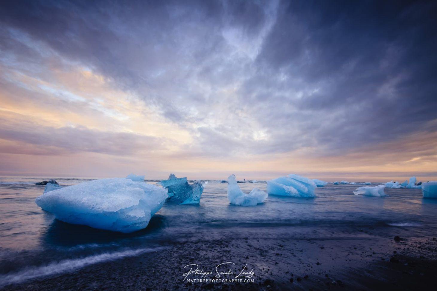 Paysage d'Islande en fin de journée