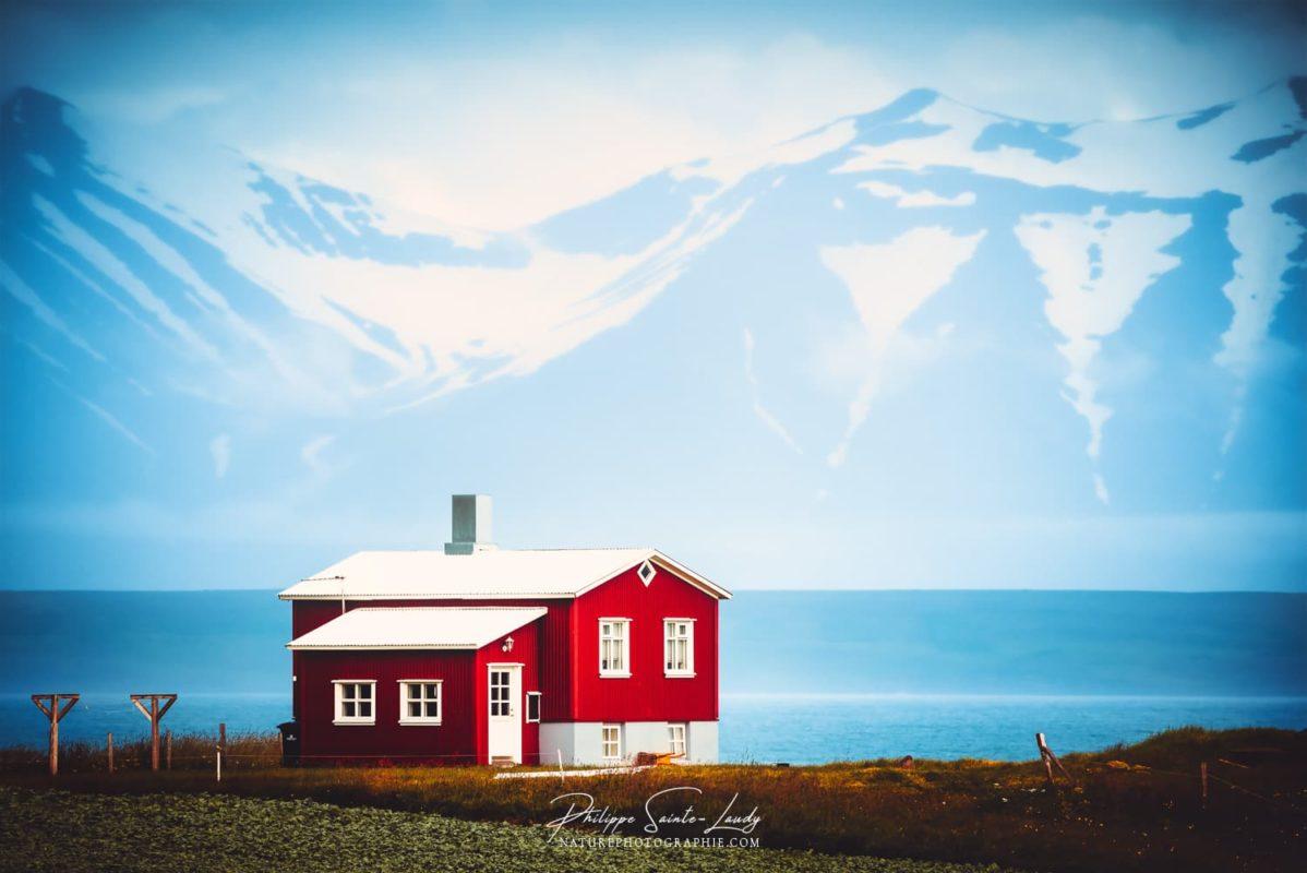 La maison du fjord Islandais