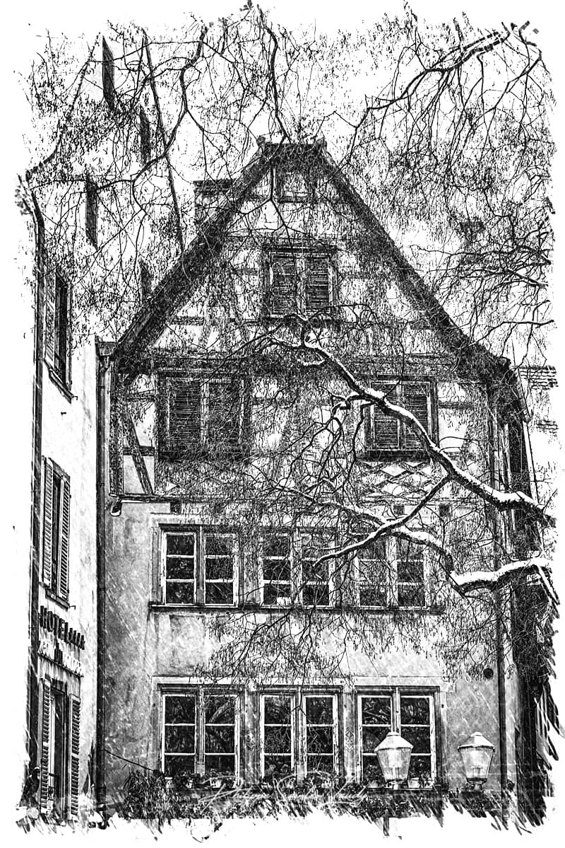 Maison à colombage à Strasbourg