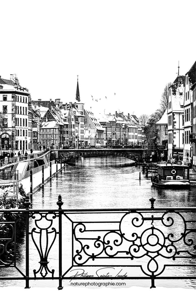Photo des berges de Strasbourg